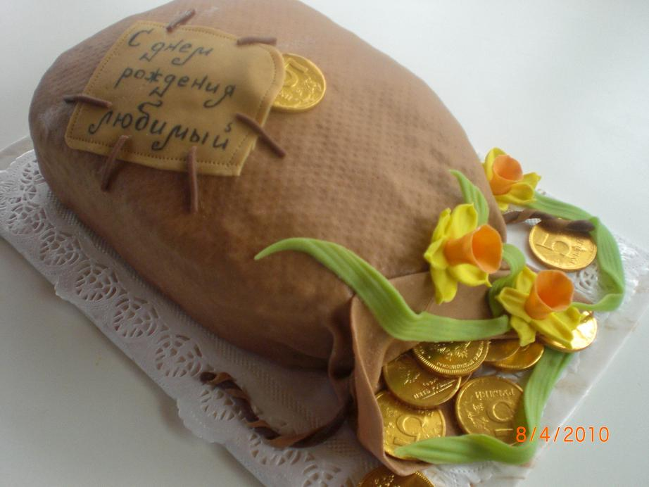 Денежный мешок торт фото